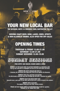 New Lion Brewery bar