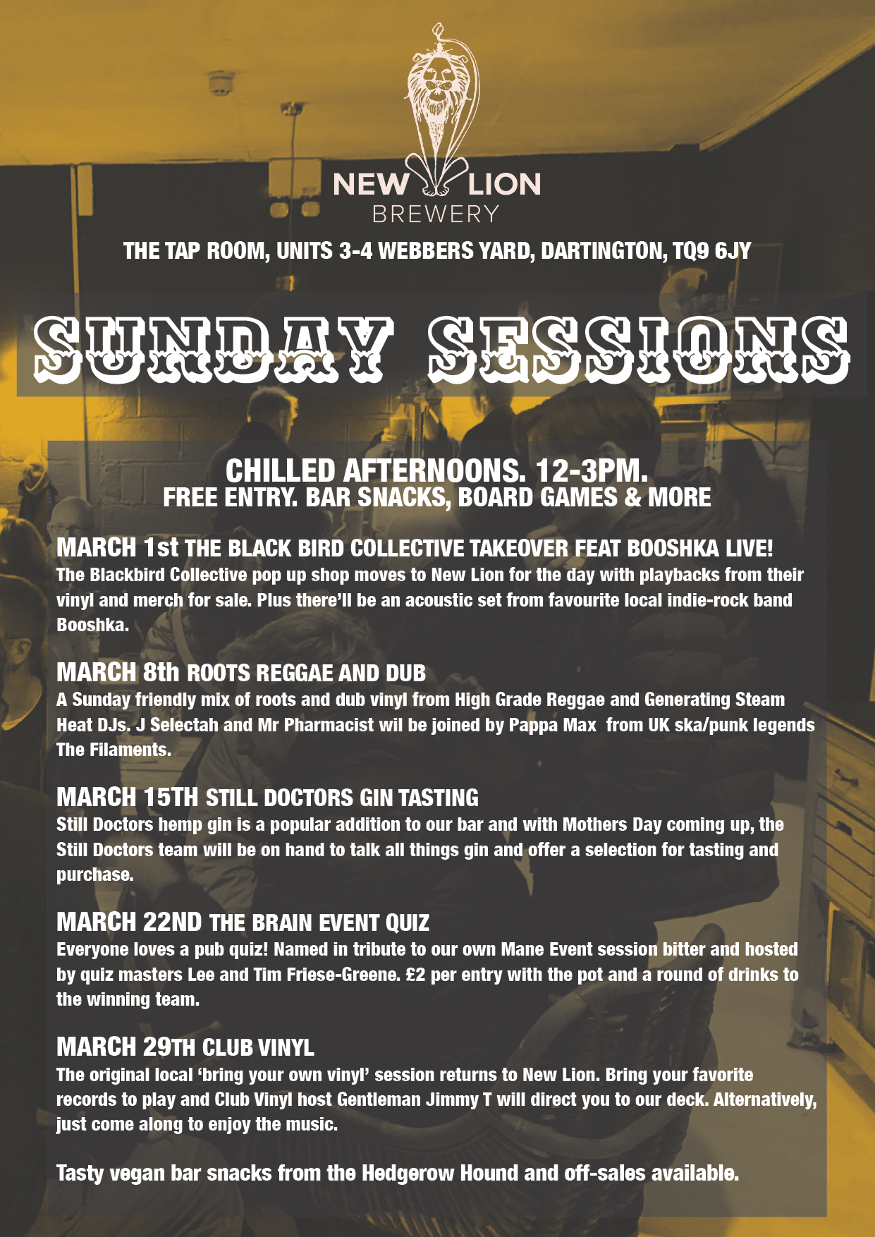 New Lion Brewery Sunday Sessions